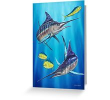 Double Trouble - Striped Marlin & Mahi Mahi Greeting Card