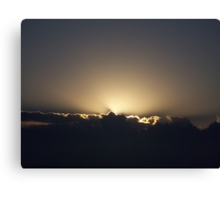 Just Before Sunrise Canvas Print