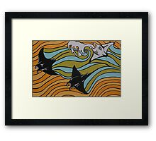 Manta Rays   Framed Print