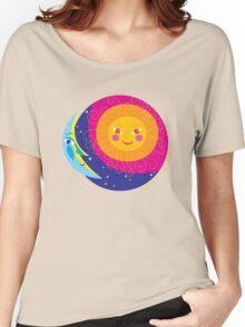 Sun Moon Women's Relaxed Fit T-Shirt