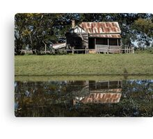 Rustic Home Reflection, Pacific Highway, Australia 2011 Canvas Print