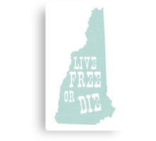 New Hampshire Slogan Canvas Print