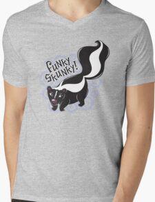 Funky Skunky Mens V-Neck T-Shirt