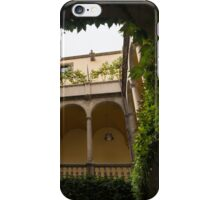 Courtyard - Green Mediterranean Serenity and Peace iPhone Case/Skin