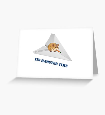 Fighter Hamster Greeting Card