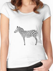 Zebra Stripes Women's Fitted Scoop T-Shirt