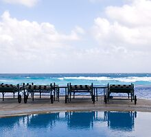 Four Chairs by the Sea by dbvirago