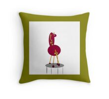 MY PET collectable art, red Throw Pillow