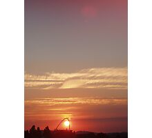 Sunset over Wembley Stadium Photographic Print