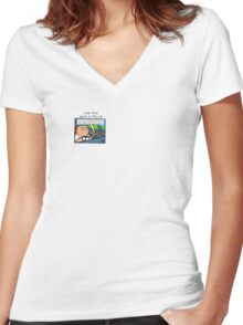Wipe Out Women's Fitted V-Neck T-Shirt