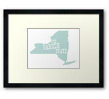New York State Motto Slogan Framed Print