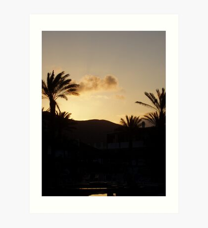 Sunset Lanzarote Art Print