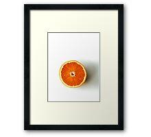 Half Orange Framed Print
