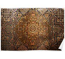 Silk Kashmiri carpet, Indian Kashmir Poster