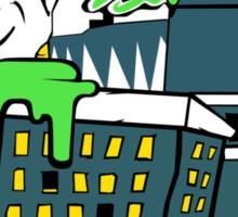 Destructive Vomit Monster Sticker