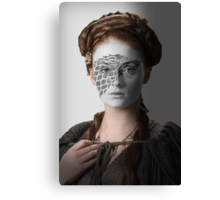 Sansa Stark Direwolf House War Paint Canvas Print