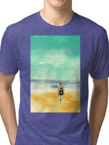 Stanley on Blackpool Beach Tri-blend T-Shirt
