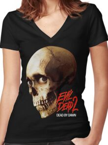 EVIL DEAD 2 Women's Fitted V-Neck T-Shirt