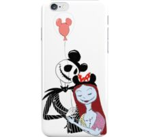 jack and sally showing their #disneyside iPhone Case/Skin