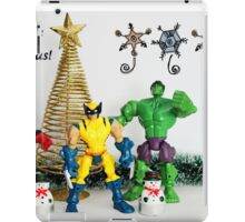 A Super Heroes Merry Christmas! iPad Case/Skin