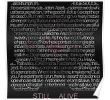Still Alive Lyrics Companion Cube Poster