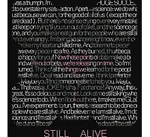 Still Alive Lyrics Companion Cube Photographic Print
