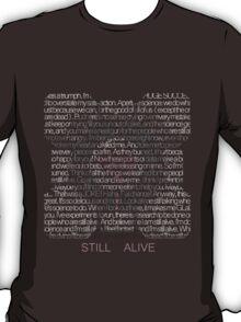 Still Alive Lyrics Companion Cube T-Shirt