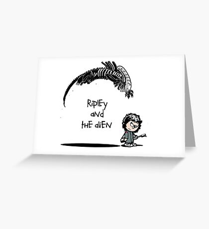 Ripley and the Alien Greeting Card