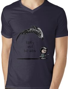 Ripley and the Alien Mens V-Neck T-Shirt