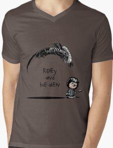 Ripley and the Alien Mens V-Neck T-Shirt
