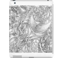 Creative Black and White Gray Abstract iPad Case/Skin