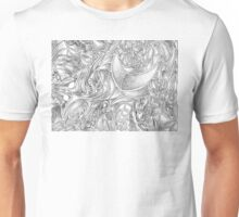 Creative Black and White Gray Abstract Unisex T-Shirt