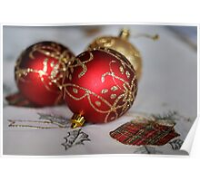 Red Baubles Poster