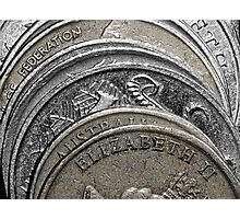 Stacked coins Photographic Print
