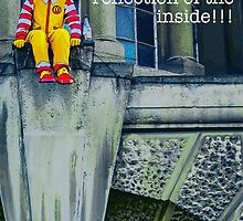 Suicidal clown! by Tim Constable