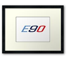 BMW E90 in M colors Framed Print