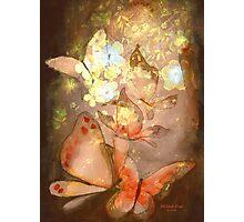 """Pretty Butterflies"" Watercolor/Digital by MiSook Kim Photographic Print"