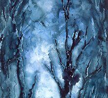 """Winter Blues"" Watercolor by MiSook Kim by misook"