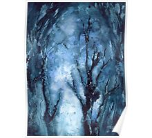 """""""Winter Blues"""" Watercolor by MiSook Kim Poster"""