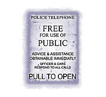 Police Telephone T-Shirt Photographic Print