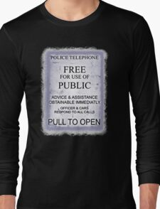 Police Telephone T-Shirt Long Sleeve T-Shirt
