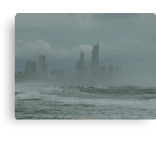 Sunshine,Beach, swimming,  suntan ,?? surfers paradise come for the holidays? No, come back next week ! Canvas Print