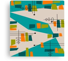 Mid-Century Modern Abstract Space Age Canvas Print