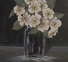 Dark Study of Flowers by Arnold Isbister