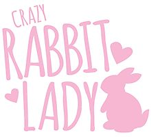 Crazy Rabbit (bunny) lady in pink Photographic Print