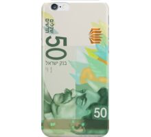 50 New Shekel edition note bill iPhone Case/Skin