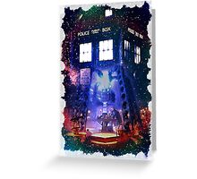 Nebula Public call Box In Space iPhone Case Greeting Card