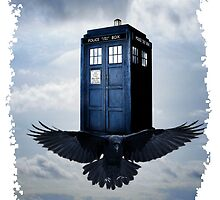 Police Call Box Flying with the Bird iPhone 6 Case by DarrellHo