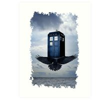 Police Call Box Flying with the Bird iPhone 6 Case Art Print