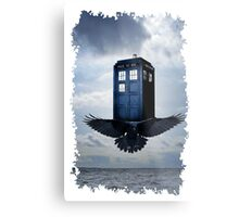 Police Call Box Flying with the Bird iPhone 6 Case Metal Print
